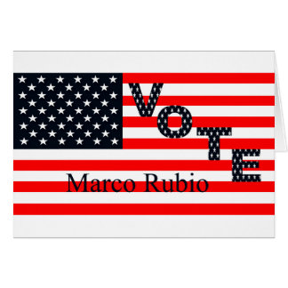 Vote Marco Rubio for President 2016 Card