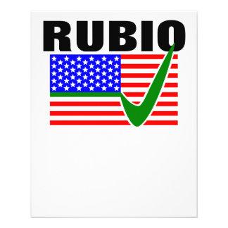 "Vote Marco Rubio for President 2016 4.5"" X 5.6"" Flyer"