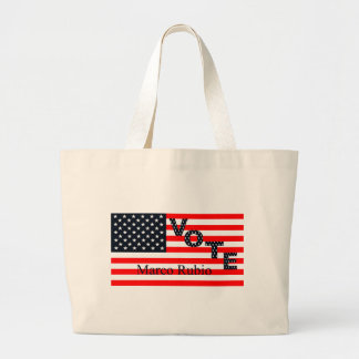 Vote Marco Rubio for President 2016 Large Tote Bag