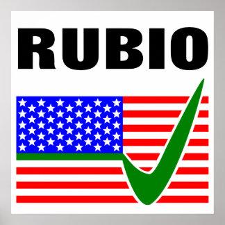 Vote Marco Rubio for President 2016 Poster