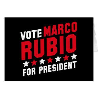 Vote Marco Rubio Greeting Card