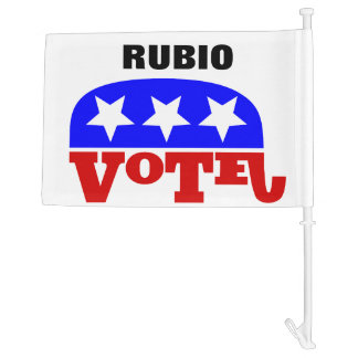 Vote Marco Rubio Republican Elephant Car Flag