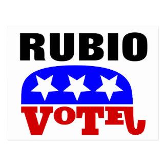 Vote Marco Rubio Republican Elephant Postcard
