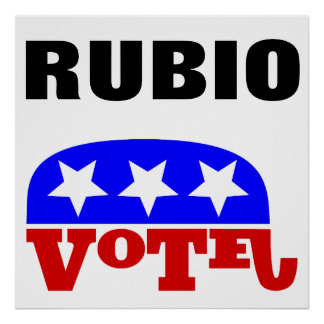 Vote Marco Rubio Republican Elephant Poster