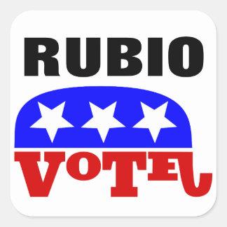 Vote Marco Rubio Republican Elephant Square Sticker