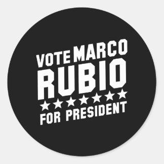 Vote Marco Rubio Round Sticker