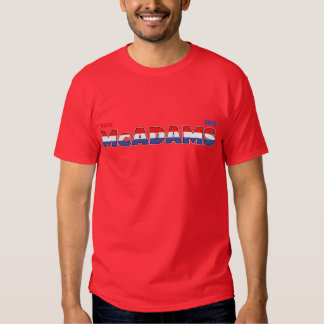 Vote McAdams 2010 Elections Red White and Blue Tee Shirt