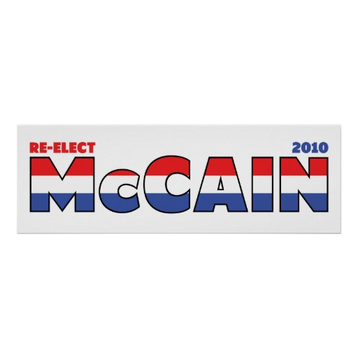 Vote McCain 2010 Elections Red White and Blue Print