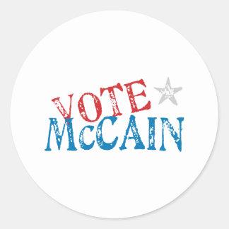 Vote McCain Classic Round Sticker