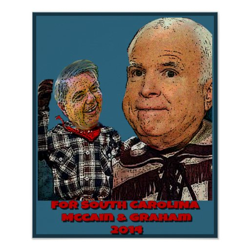 Vote McCain & Graham, 2 Senators 4 the price of 1! Poster