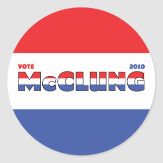 Vote McClung 2010 Elections Red White and Blue Stickers