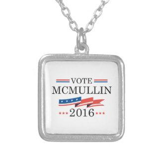 Vote McMullin 2016 Square Pendant Necklace