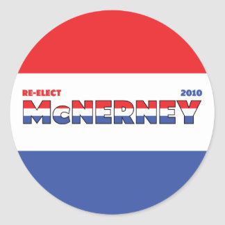 Vote McNerney 2010 Elections Red White and Blue Round Stickers