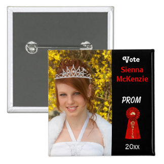 Vote me for Prom Queen (Red) 15 Cm Square Badge