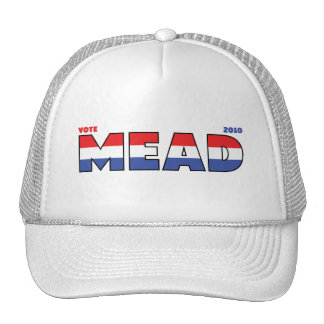 Vote Mead 2010 Elections Red White and Blue Mesh Hat