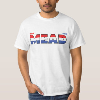 Vote Mead 2010 Elections Red White and Blue T Shirt