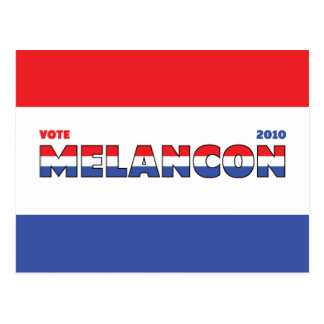 Vote Melancon 2010 Elections Red White and Blue Postcard
