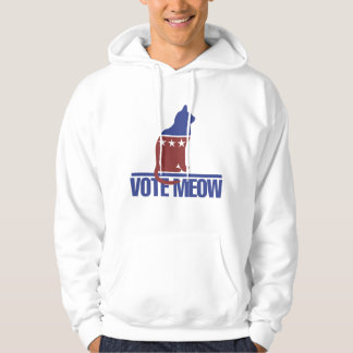 Vote Meow Kitty Cat Hoodie
