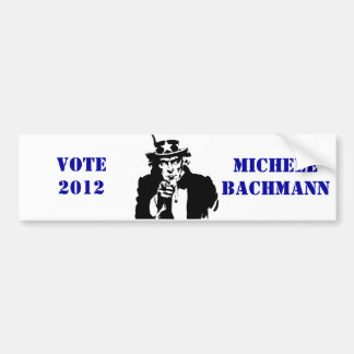 VOTE MICHELE BACHMANN 2012 CAR BUMPER STICKER