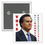 Vote Mitt Romney 2012 Pinback Button