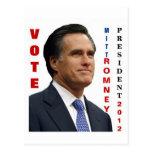 Vote Mitt Romney 2012 Postcard