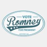 Vote Mitt Romney For President Swoosh (Blue Oval) Oval Sticker