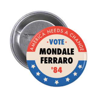 Vote Mondale/Ferraro '84 6 Cm Round Badge