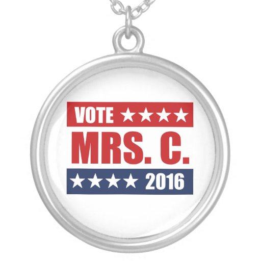 VOTE MRS. C. 2016 CUSTOM NECKLACE