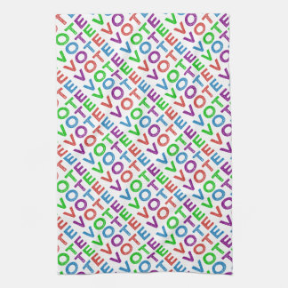Vote Multi-colored Tea Towel