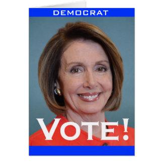 Vote Nancy Pelosi Greeting Card
