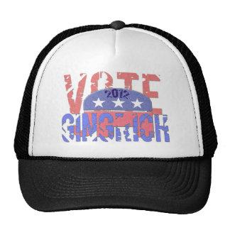 Vote Newt Gingrich 2012 Trucker Hats