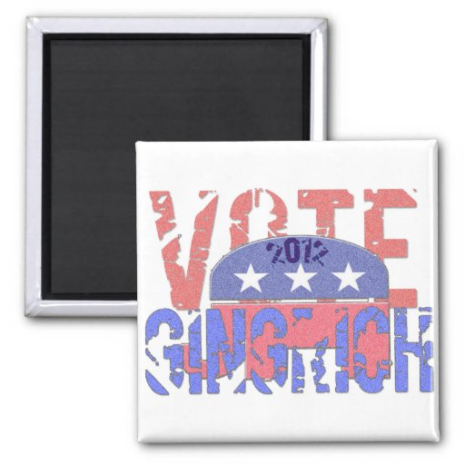 Vote Newt Gingrich 2012 Fridge Magnets