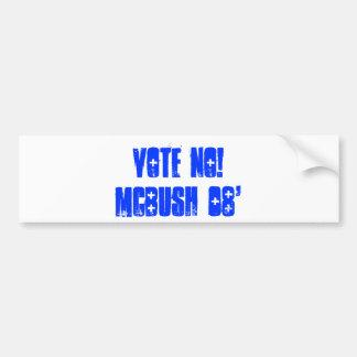 Vote No!McBush 08' Bumper Sticker