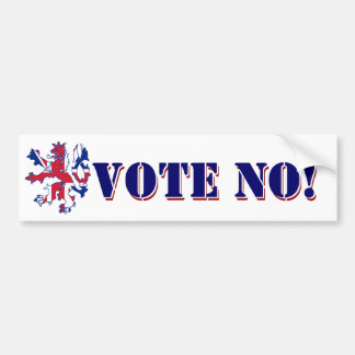 Vote No Scottish referendum Bumper Sticker