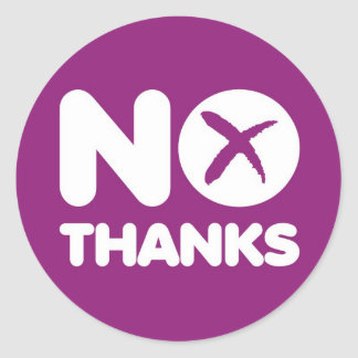 Vote No Thanks Sticker Scottish Independence