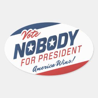 Vote Nobody for President Stickers