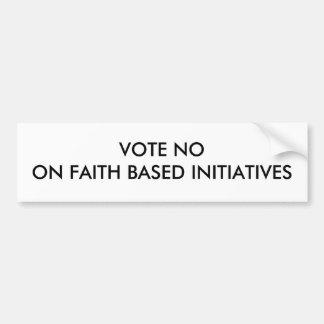 VOTE NOON FAITH BASED INITIATIVES BUMPER STICKER