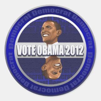 Vote Obama 2012 Obama Caricature Stickers