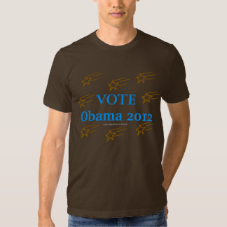 Vote Obama 2012 Stars in Action Tee Shirt