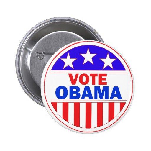 Vote Obama 6 Cm Round Badge