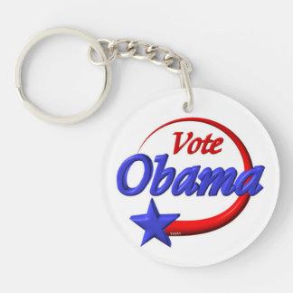 Vote Obama acrylic keychain by Valxart