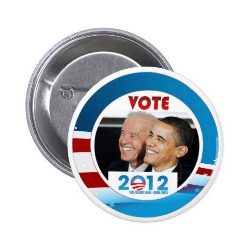 Vote Obama / Biden 2012 Pins