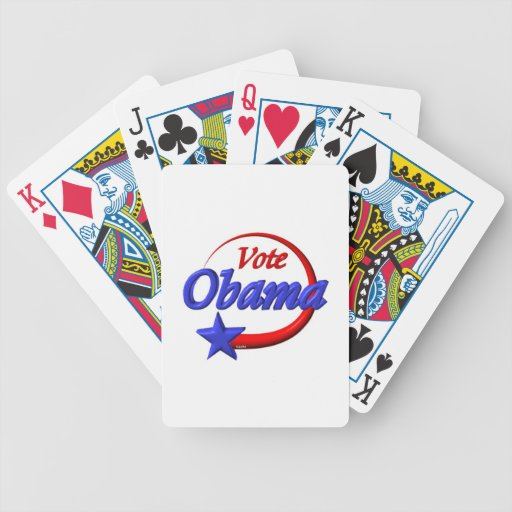 Vote Obama by Valxart.com Bicycle Playing Cards