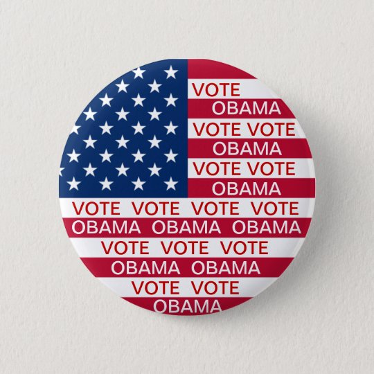 Vote Obama Flag 6 Cm Round Badge
