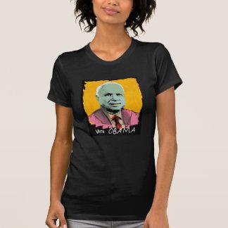 VOTE OBAMA Sheer V-Neck T Shirts