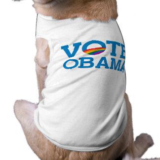 VOTE OBAMA SLEEVELESS DOG SHIRT