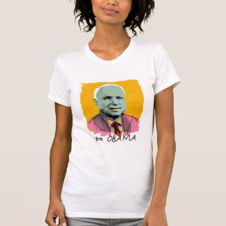 VOTE OBAMA White Ladies Performance T Tee Shirts