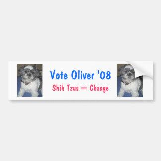 Vote Oliver 08 Bumper Sticker! Bumper Sticker