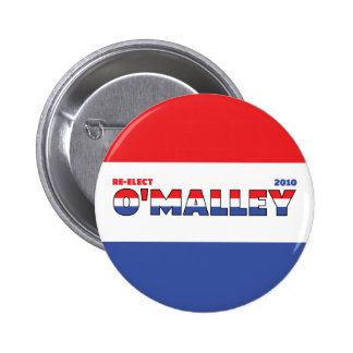 Vote O'Malley 2010 Elections Red White and Blue 6 Cm Round Badge