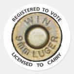 Vote or Carry Round Sticker